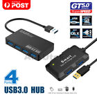 4 Port Super Speed USB 3.0 HUB Slim Built-in Cable Expansion Splitter Macbook PC