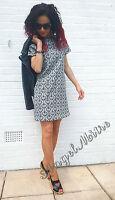Zara Black Shift Paisley Printed White Dress Size XS 6