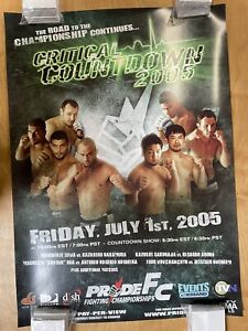 Pride Fc Critical Countdown Poster 2005 Poster Japanese MMA - UFC Strikeforce