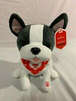 "NWT HALLMARK VALENTINES DAY PUPPY 12"" X 7.5"" DOG PUG SINGS SNUGGLY & I KNOW IT"