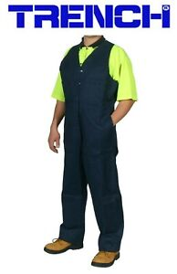 Cotton Drill Action Back Overall - Navy