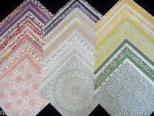 12x12 Scrapbook Paper Screen Prints Ink Block Stencil Pad Stack 60 Batik Stamped