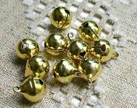 Lot 20 Pièces Cloche Doré 11mm x 8mm grelots Metal Doré Clochette Jingle Bell