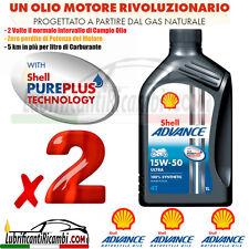 2 Litri Olio Motore 4 tempi SHELL ADVANCE ULTRA4 15W50 100% Sintetico API SM MA2