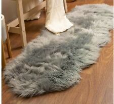 6X2'Ft Bedroom Faux Fur Rug Furry Carpet Imitate Sheepskin Rug Washable Mat US