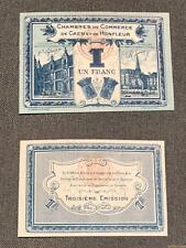 Nécessité - 1 Franc Chambre de Commerce Caen et Honfleur NEUF 191546