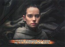 Star Wars Galactic Files 2018 Memorable Quotes Chase Card MQ7