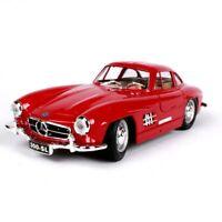 Burago 1/24 1954 Benz 300 SL Classic Diecast Car Model Red