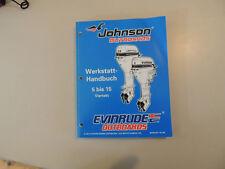 Werkstatthandbuch Johnson  Außenborder 5 6 8 9,9 15 PS 4-Takt EC 1998