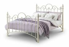 "Julian Bowen Florence White Double 4'6"" Metal Bed Frame"