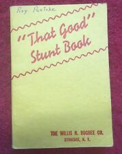 Vintage 1941 Popular Books By Bugsbee That Good Stunt Book - Magic Tricks