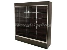 CA LOCAL PICKUP Wall Black Display Show Case W/Lights Knocked down #WC6B