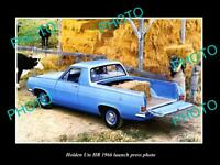 OLD POSTCARD SIZE PHOTO OF 1966 HOLDEN HR UTE LAUNCH PRESS PHOTO
