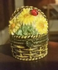 NATIONAL HOME GARDENING CLUB PORCELAIN BOX COLLECTION SUNFLOWER BASKET