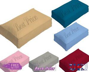 New Plain Soft Luxury Plain Poly-Cotton Box Pillow Case Fine Hotel Quality
