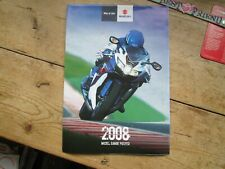 SUZUKI MOTORCYCLES 2008 MODELS RANGE AND FULL GIANT POSTER  WAY OF LIFE SUZUKI