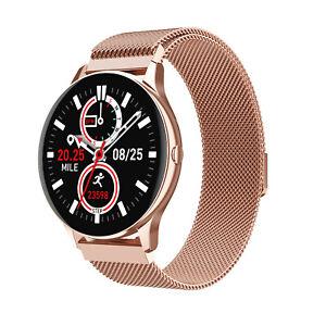 Women Lady's Gift Bluetooth Smart Watch Bracelet Wristband Heart Rate Call
