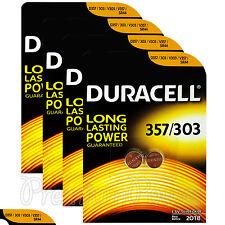 8 x Duracell Silver Oxide 357 303 1.5V batteries Watch D357 V303 V357 SR44