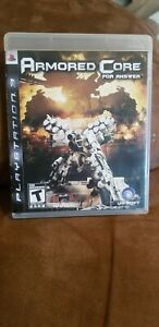 Armored Core: For Answer (Sony PlayStation 3, 2008) Very good condition CIB