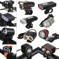USB Rechargeable Bright LED Bicycle Bike Front Light Headlight Lamp Rainproof OB