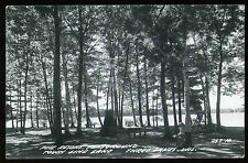 1940's 50's Pine Resort Town Line Lake Three Lakes Wisconsin RPPC Postcard 257-H
