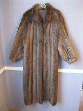 Toasty BEAVER fur coat with detachable hood Medium brown jacket stroller fox