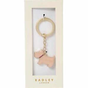 Radley London Pink Pageant Enamel Key Ring Scottie Dog Bag Charm Pink Boxed Gift