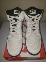 "Nike Dunk High ""Light Bone"" Black OG Shoes 904233-002 Men's Size 9.5"