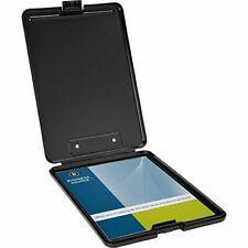 Business Source Plastic Storage Clipboard - Black - Letter-Size 37513