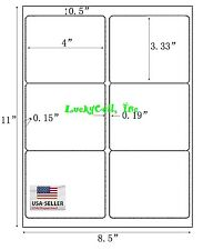 "600 Shipping Address / Amazon FBA Labels / 6 Per Sheet 6UP 4""x3.33"" 100 Sheets"