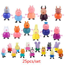 25Pcs Peppa Pig Toy Set For Children Gifts Anime Action Figure