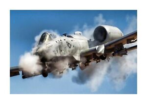 A10 Thunderbolt II Warthog 1 A4 reproduction picture poster with choice of frame