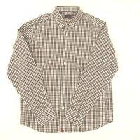 Untuckit Mens Button Down Shirt Size L cotton Long Sleeve Plaid  Wrinkle Free