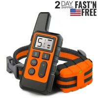 875 Yards Electric Dog Shock Vibration Collar Rechargeable Remote Pet Training