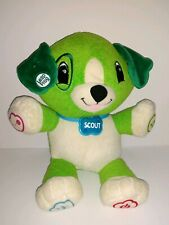 LeapFrog My Pal Scout Green Plush Interactive Puppy Dog Educational Learning Toy