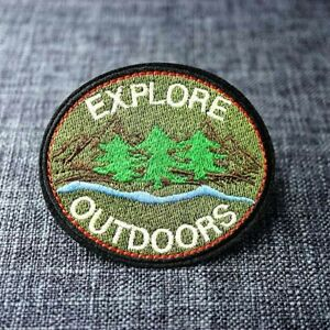 Explore Outdoors Camping Nature Travel Hiking Embroidered Patch - Iron On/Sew On