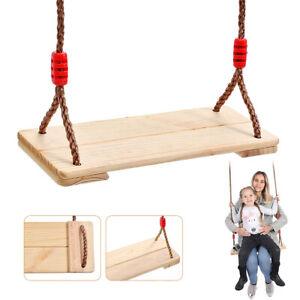 Adjustable Wooden Outdoor Garden Swing Seat Pine Wood Swing Chair Adults & Kids