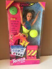 Vintage 1997 Speedo Flip 'n Dive Teresa Barbie Doll Nib