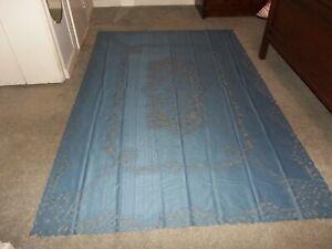Lace Tablecloth Blue Battenberg  design  60 x 126