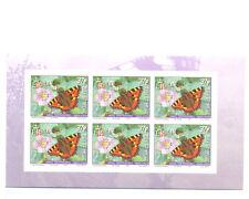Isle of Man-Butterflies self-adhesive block of 6 mnh