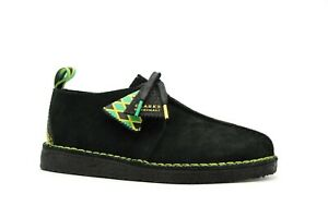 "NEW MEN CLARKS ORIGINAL DESERT TREK ""BANK ROBBERS"" JAMAICA BEE BLACK SUEDE SHOES"