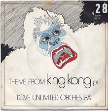 "LOVE UNLIMITED ORCHESTRA - King kong - VINYL 7"" 45 LP ITALY 1976 VG+/ VG-"