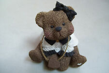 Sarah's Attic L341/5000 Teddy Bears With Big Bow Tie Figurine Brown & White