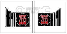 HEMI CHRYSLER VALIANT - Badge Style Stickers - HEMI 265 QUARTER standard  #11