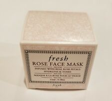 Fresh Rose Face Mask Infused w/ Real Rose Petals - Hydrates & Tones - 15ml / 0.5