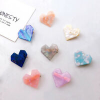 Fashion Hairpins Women Heart Hair Clips Oval Shape Resin Shiny Hair Accessories
