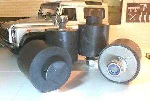 Land Rover Defender Front Bonnet Spare Wheel Rubber Buffer & Nuts Set MRC4619 x4