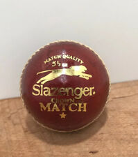 Slazenger Crown match Red Leather Cricket Ball 5 1/2 OZ.