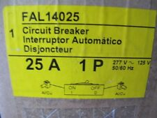 Square D Fal14025 1 Pole 25 Amp 277 Volt Circuit Breaker New