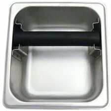 """Commercial Grade Stainless Steel Espresso Knock Box 7"""" x 6.5"""" Barista Coffee"""